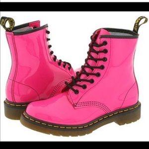 Hot Pink Doc Marten Boots (Size 7)